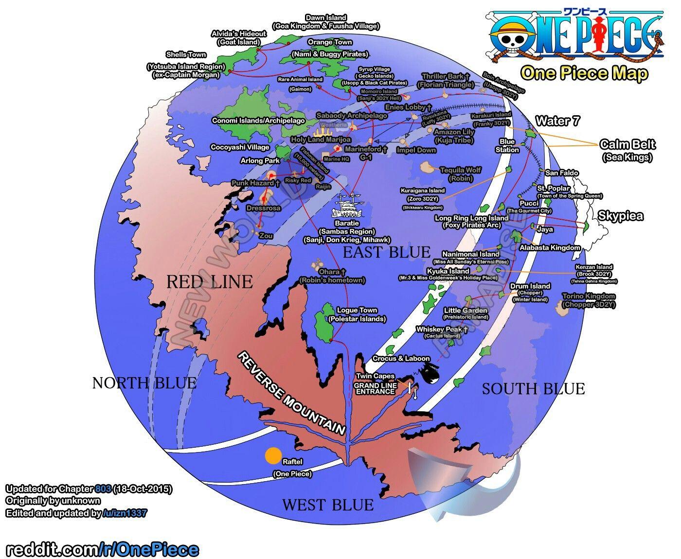 One Piece Grand Line Map Dessin