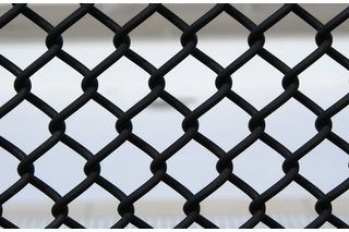 Painting A Chain Link Fence Hunker Painted Chain Link Fence Chain Link Fence Black Chain Link Fence