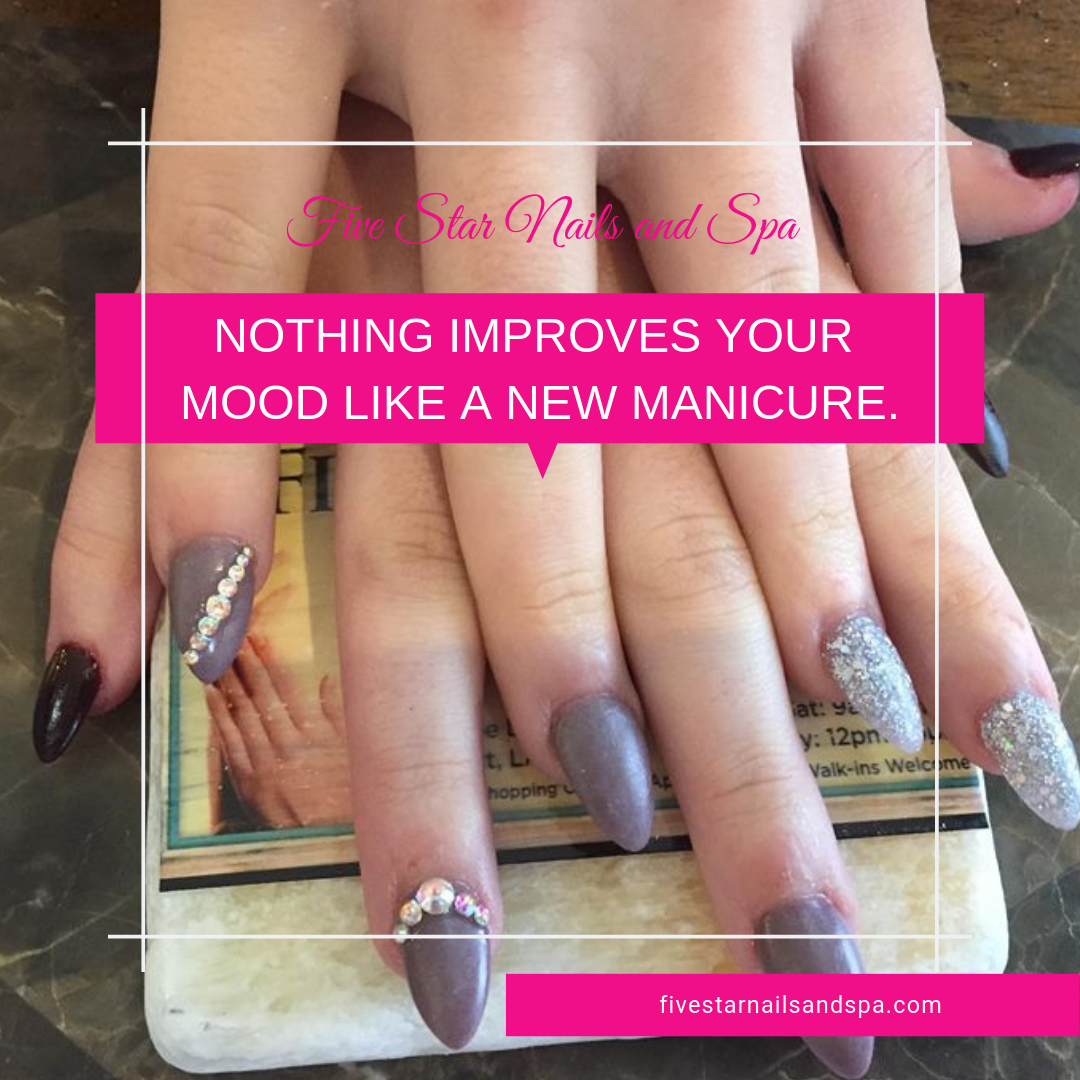Nothing Improves Your Mood Like A New Manicure Do You Agree With It Girls What Are You Waiting For Visit Us Or Book You Star Nails And Spa Nail Spa Nails