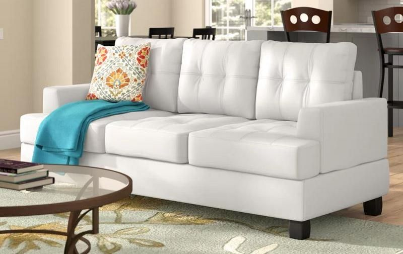 9 White Faux Leather Sofa Options That