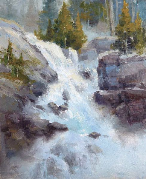Johannes Vloothuis addresses the challenges artists face when they want to paint waterfalls. Read his tips for painting water and see an expert example.