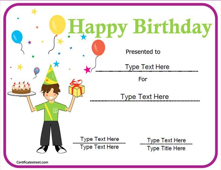 Special Certificate - Happy Birthday Certificate CertificateStreet