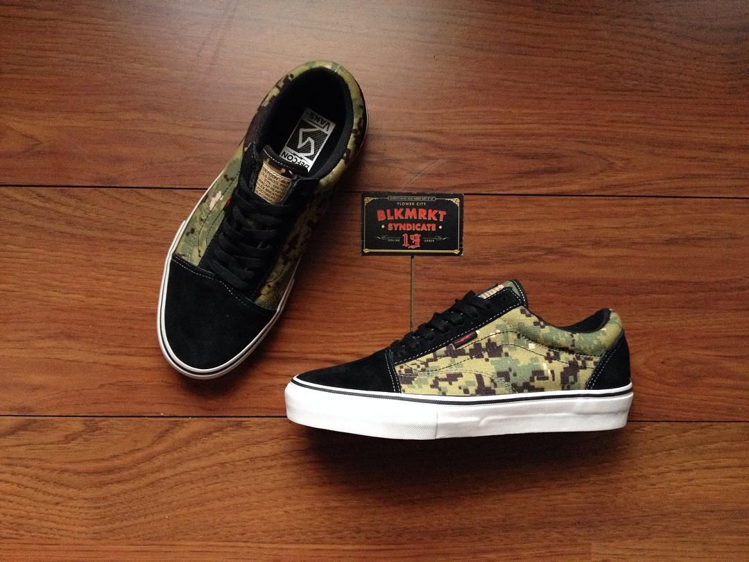 0c1cfbc39d DEFCON x Vans Syndicate Old Skool Pro S Digital Camo Pack -Ready Stock  -Condition