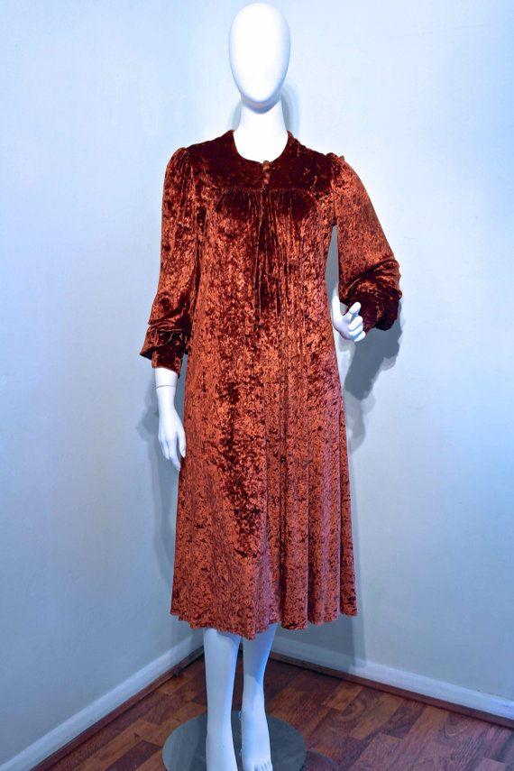 1d65b323efc Vintage 1970s CRUSHED VELVET Long Dress by VicAndBertieVintage Sash Belts