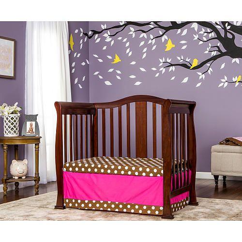 Dream On Me Naples 4 In 1 Convertible Mini Crib Espresso Mini Crib Cribs