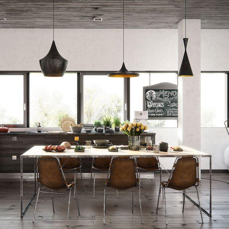 Salle à manger bois moderne \u2013les influences et les éléments à