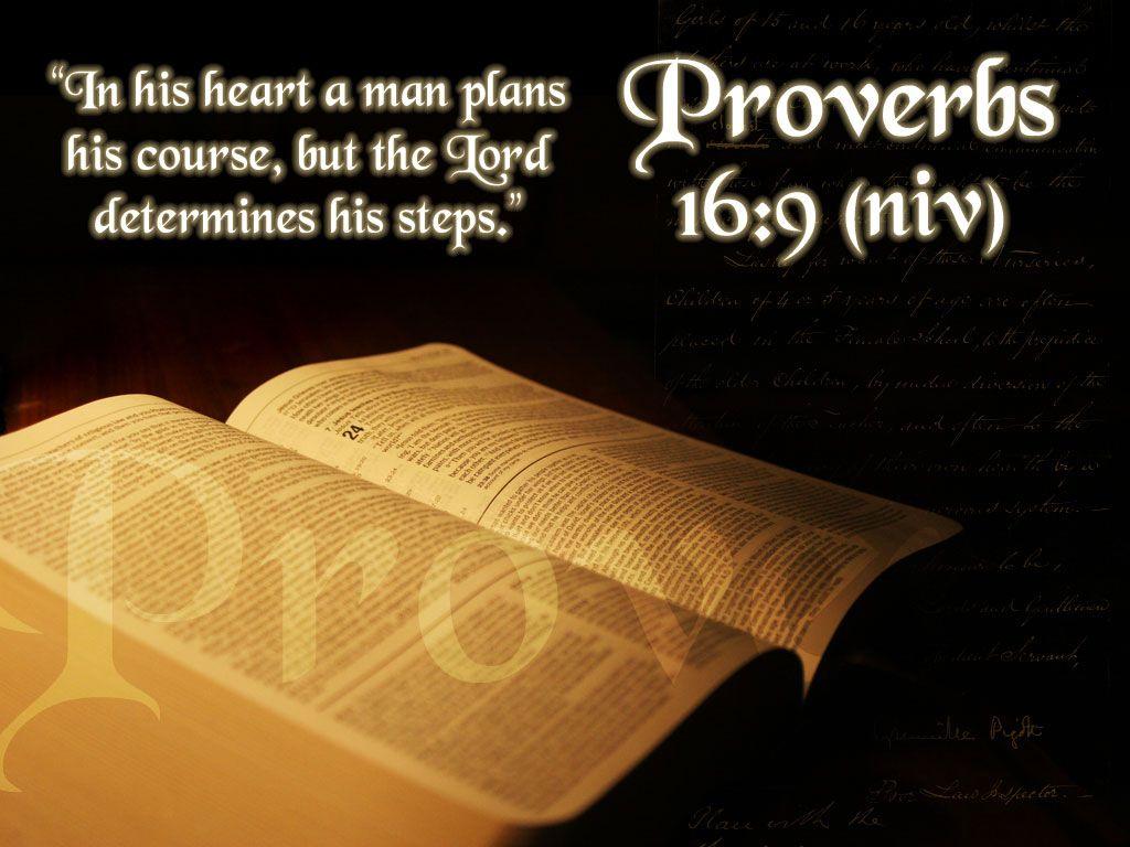 Proverbs 16 9 Desktop Wallpaper 1024x768 Proverbs Scripture Bible Pictures