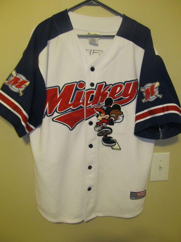 0604a06dd Vintage Disney Mickey Mouse Baseball Jersey - Adult Medium  Disney