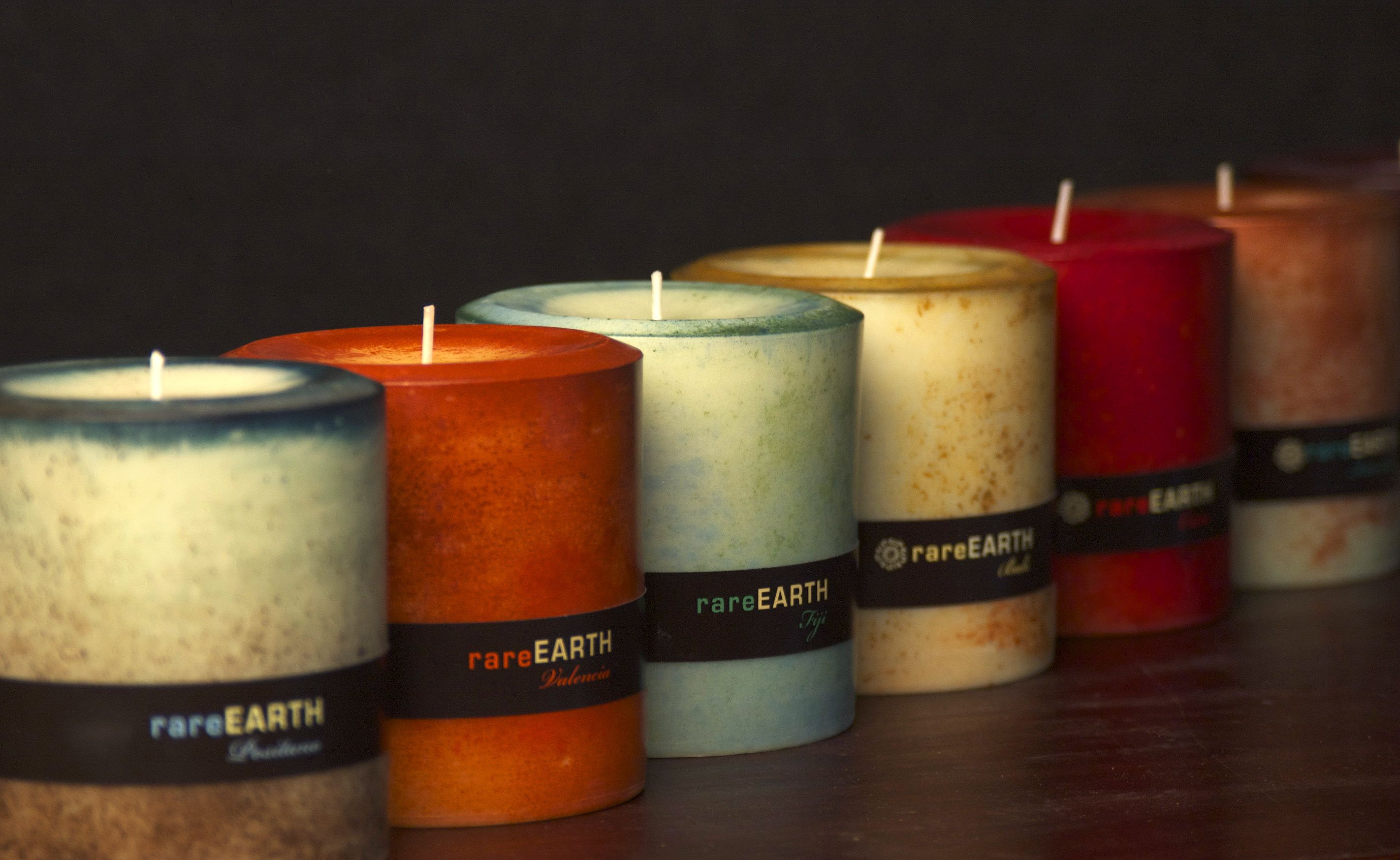 Natural Candles Made From Soy With Pure Essential Oils Colored