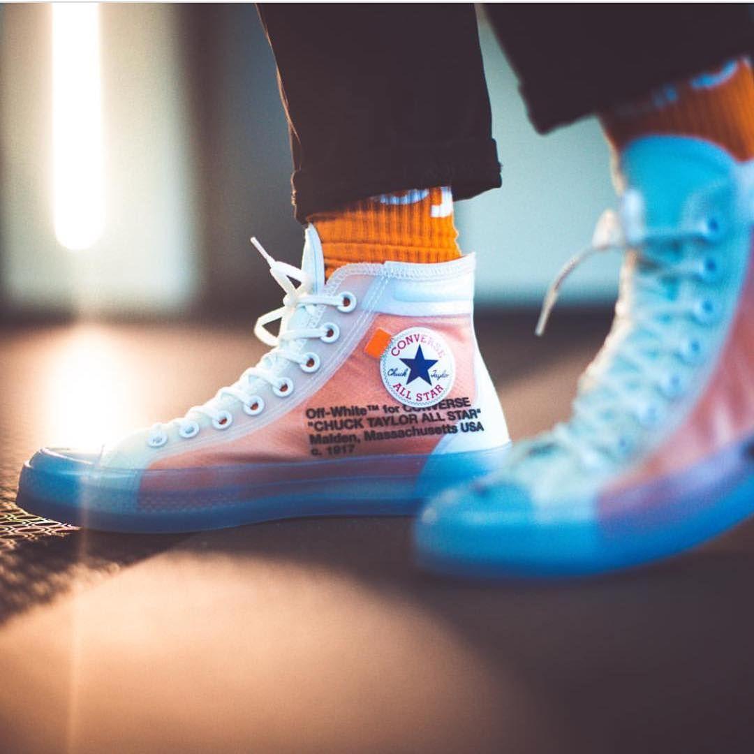 Converse X Off White Sneakers Men Fashion Nike Fashion Shoes Sneakers Fashion