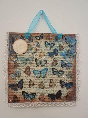 Handmade by Maureen - A Blog: Tsunami Rose Butterflies! Wall Hanging