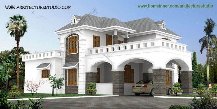Attractive 4500 Sq Ft Attractive Colonial Style Kerala Home Design