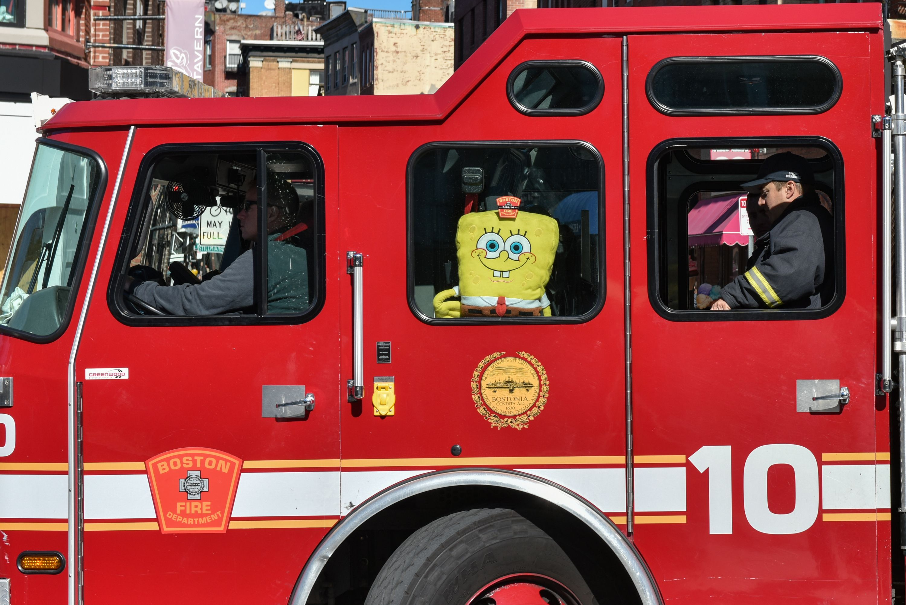 Spongebob Boston Bfd Firedepartment Like Us For A Photo Each