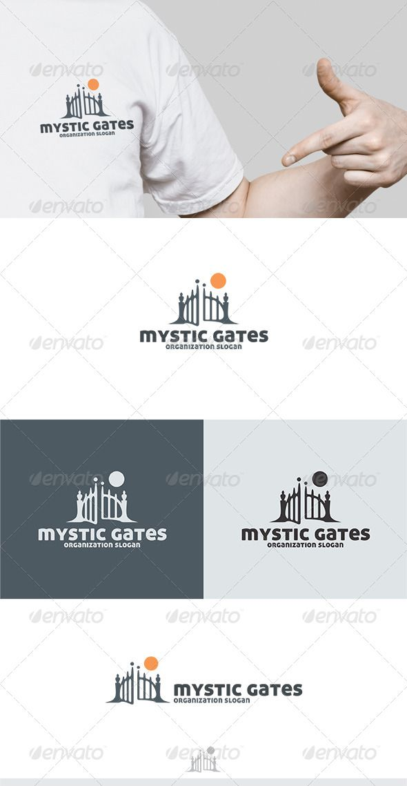 Mystic Gates Logo  #GraphicRiver