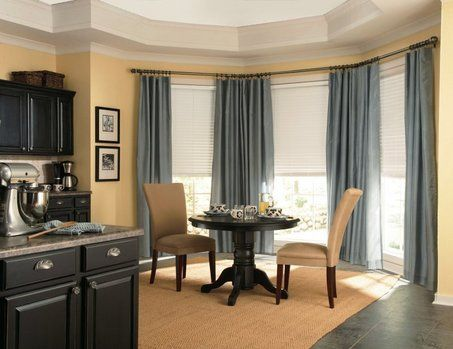 Close The Window On Cold Dining Room Window Treatments Dining Room Windows Bay Window Treatments