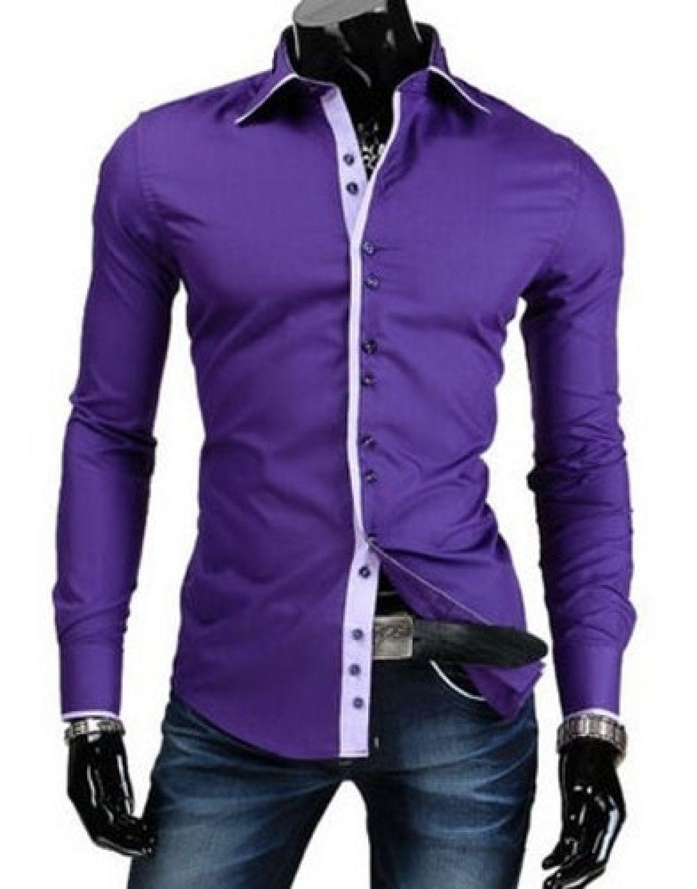 slimming color block shirt
