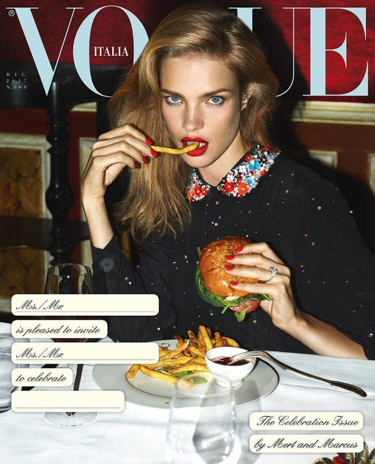 1dd6ca2b5ac5 Vogue Italia s December 2017 Food Obsession Celebration Channels Carine  Roitfeld s VP Decadence Pt 1