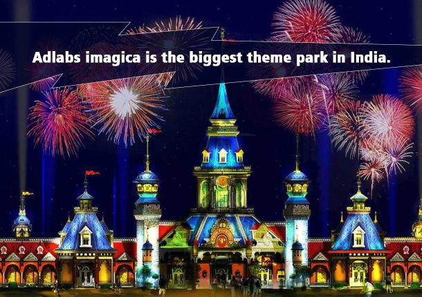 Adlabs imagica is the biggest theme park in India. India's big-budget, hi-tech Adlabs Imagica opened in 2013. Modeled on Universal Studios, it has more than 25 themed rides (including the country's largest roller coaster and 4D stimulation rides) and five themed restaurants. #adlabsimagica 😉 #InterestingFact #India #park #themepark #fun #enjoy #rollarcoaster #rides #instagood #instalove #instalike #insta #thrill #ride #adventure #rides #pictureoftheday  #day #sunsetporn #imagica  #travel…