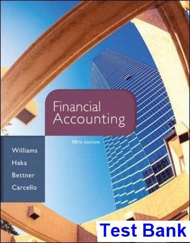 financial accounting 16th edition williams test bank test bank rh pinterest com