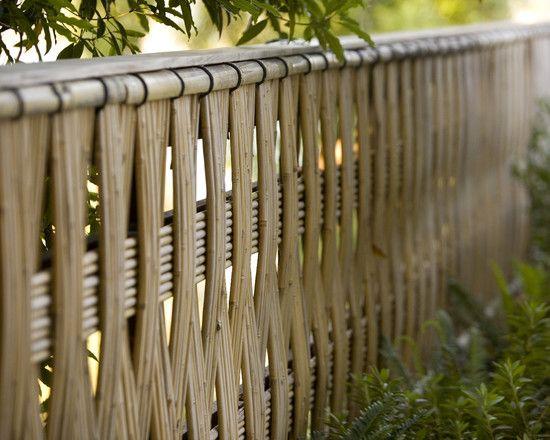 Gartenzaun Ideen Flechtwerk modern Ideen Sichtschutz Garten - sichtschutz garten modern