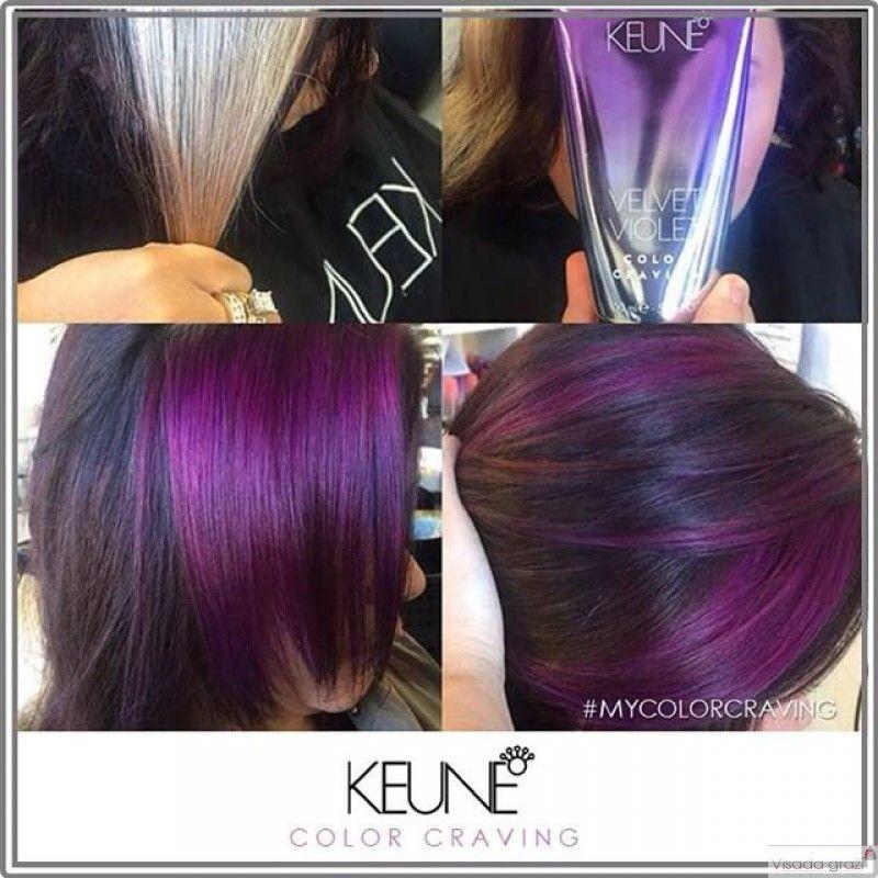 Kosmetika Keune Color Craving Palaipsniui Nusiplaunantys Plaukų Dazai Spalva Violetinė Velvet Violet 150ml Hair Color Purple Hair Hair Styles