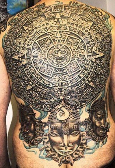 2c44c46804a36 Aztec Calendar Tattoo | Fresh Tattoos | Mayan tattoos, Aztec tattoo ...