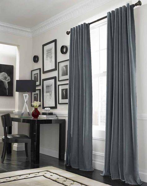 Alternative: Grau Blaue Vorhänge, Vielleicht Sogar Aus Samt?