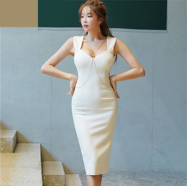 Women summer Dress female fashion OL professional temperament Slim hip split pencil dress - Bodycon dress, Sleeveless bodycon dress, Dresses, Pencil dress, Fashion wholesale clothing, Bodycon dress online - Fixed Free Shipping Ships within 12 to 20 days Neckline Square Collar Season Summer Sleeve Length(cm) Sleeveless Material Acetate Waistline Natural Silhouette Pencil Dresses Length KneeLength SIZES cm Bust Waist Hip Length XS 82 66 84 108 SM 86 70 88 109 MD 90 74 92 110 LG 94 78 96 111 1 Inch   2 54 CM, 1 CM   0 39 Inch