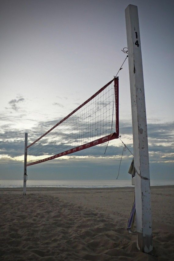 Hermosa Beach Volleyball Court Photograph 8x10