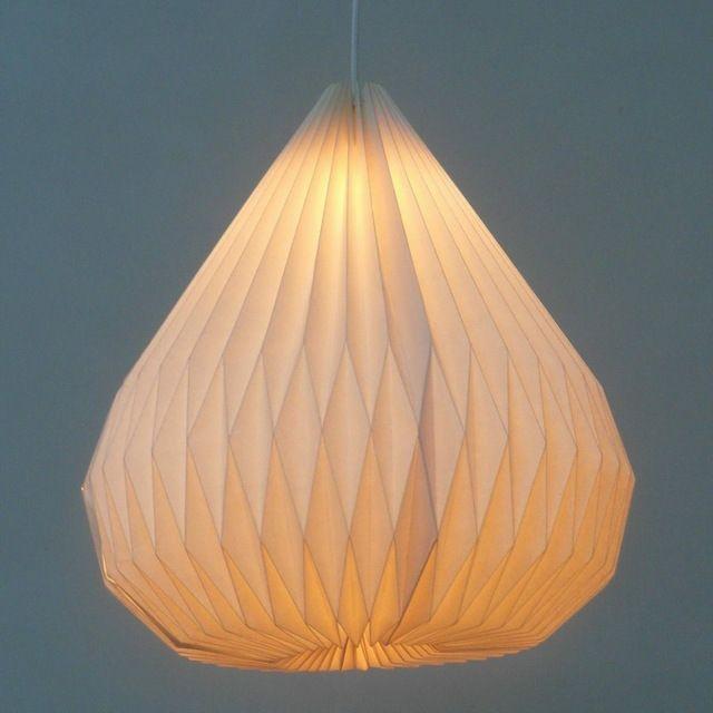 moderne witte origami ikea papieren hanglamp voor keuken lichten