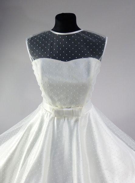 Brautkleid 50er Jahre Knielang Hochzeitskleid Von Rockabillymode Ein Kleid Fur Dich Auf Dawanda Com Brautkleid 50er Hochzeitskleid Und Kleider