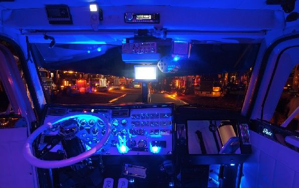 Night lights  #interiors #trucking | Truck Interiors | Big