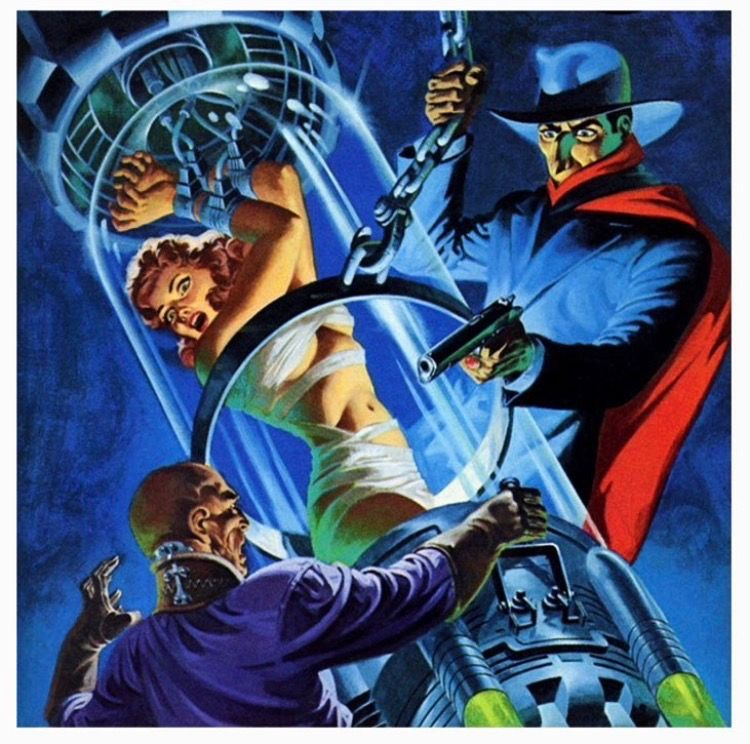 """Jim Steranko's cover art for The Shadow novel """"The Silent Death"""""""