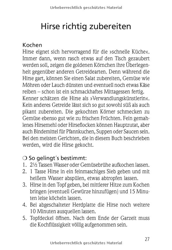 Kochen mit Hirse: fantastisch vegetarisch: Amazon.de: Wolfgang Hertling: Bücher
