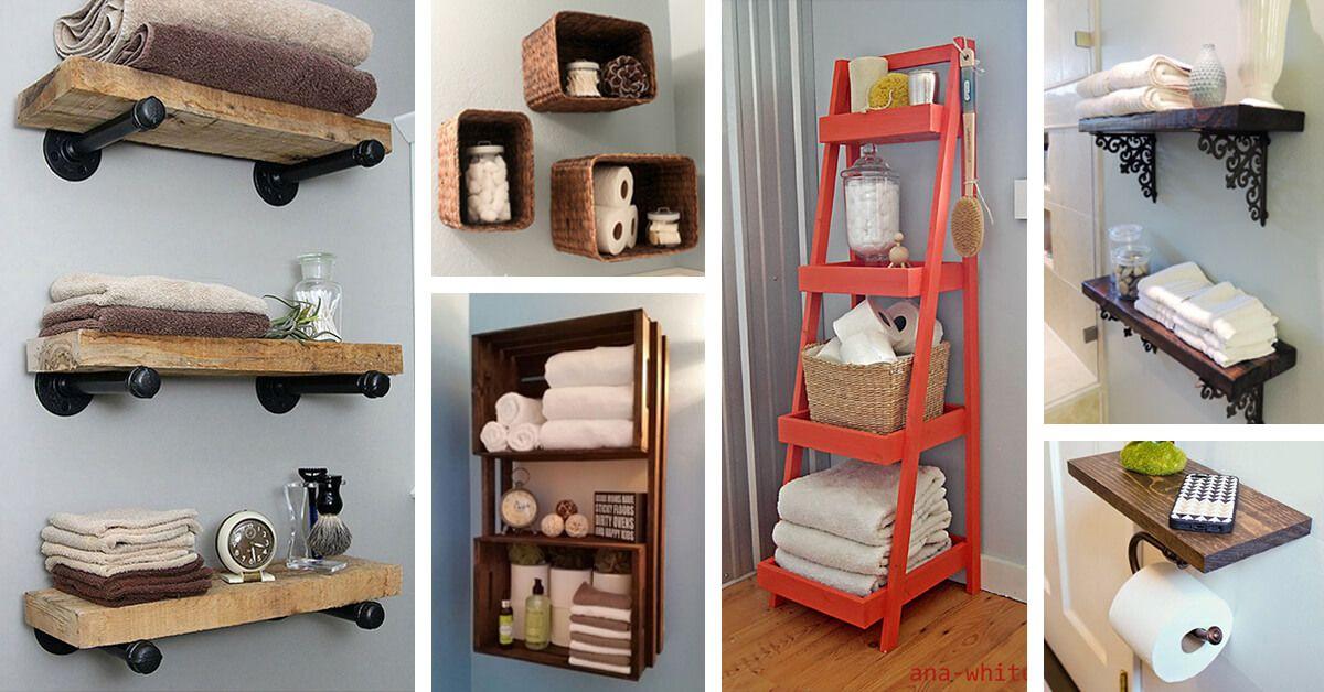 25 Brillante Diy Badezimmer Regal Ideen Sicher Savedy Storage
