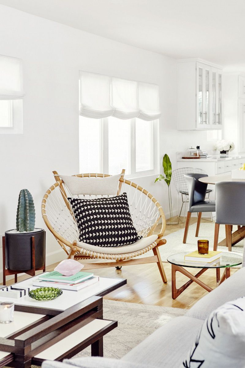 Jacey Duprie\'s Calm & Cool California Home | Wicker chairs, Living ...