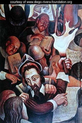 Diego Rivera sought to make art that reflected the lives of the Mexican people. In 1921, through a government program, he started a series of murals in public buildings. Some were controversial; his Man at the Crossroads in New York City's RCA building, which featured a portrait of Vladmir Lenin, was stopped and destroyed by the Rockefeller family.