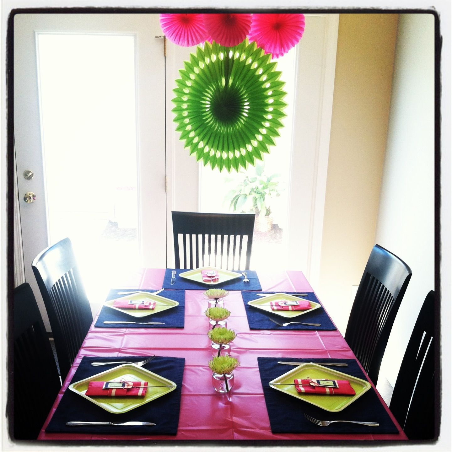 Wedding Bridal Shower. A Fondue Dinner Party With Hot Pink
