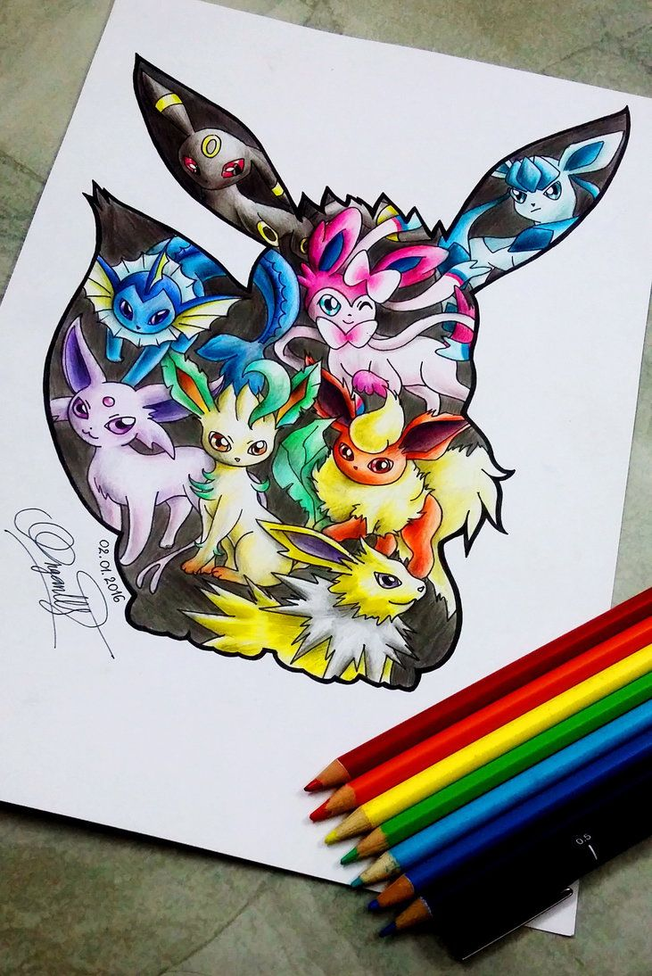 I Ve Always Loved The Awesome Eevees Another One For The Pokemon Collection Pokemon Drawings Pokemon Tattoo Pokemon Art