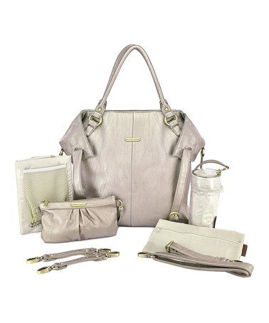 Another great find on #zulily! Pewter Charlie Diaper Bag Set by timi & leslie #zulilyfinds