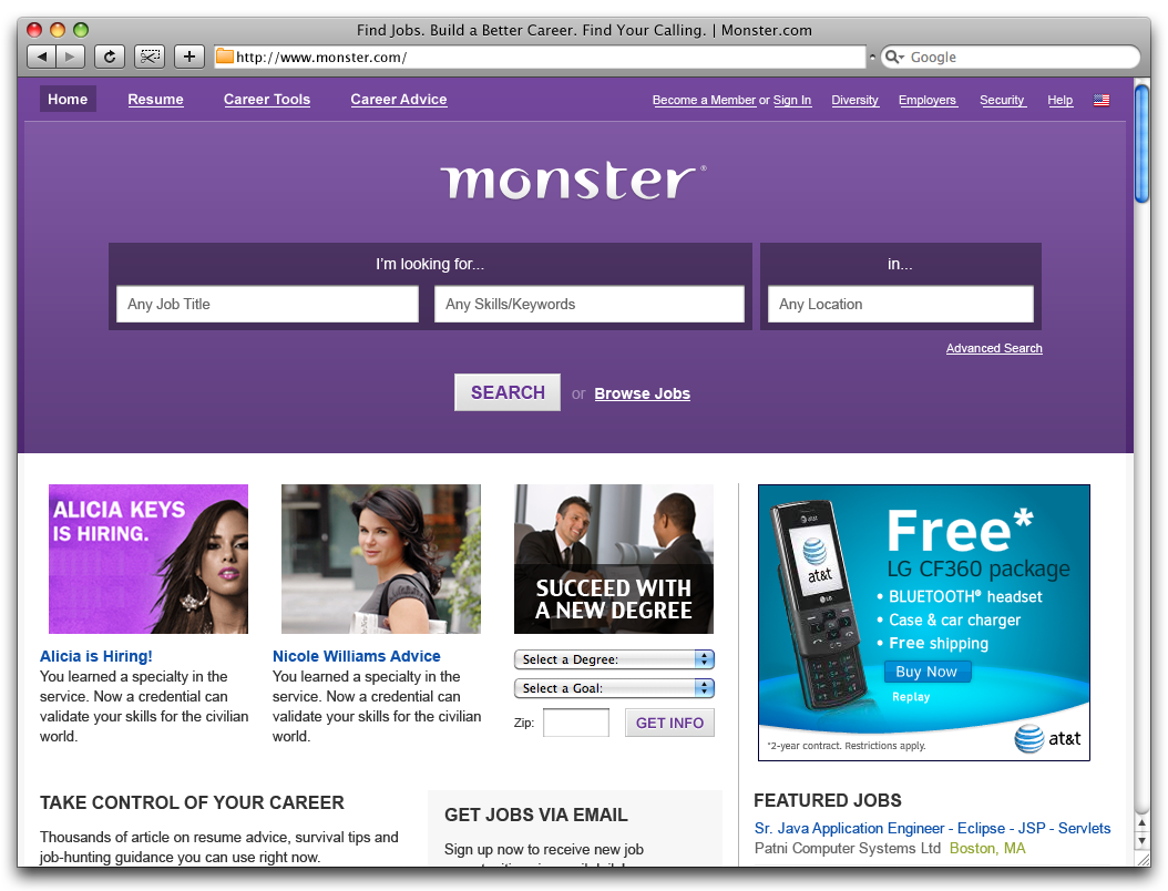 Job Search Career Advice Hiring Resources Monster Com Job Portal Job Search Career Advice