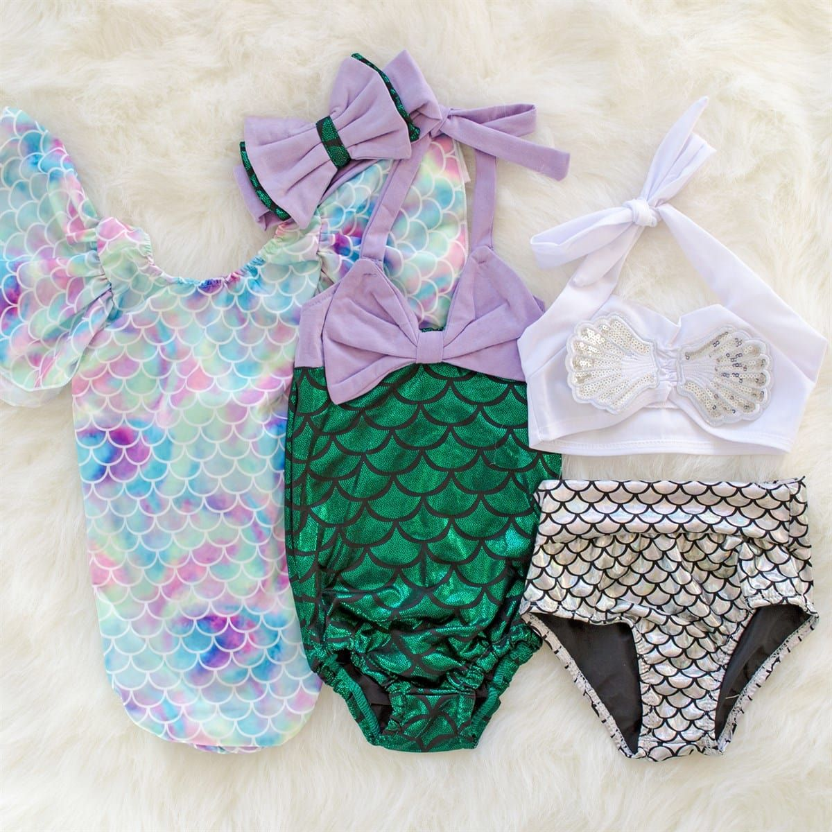 5992dc6ccdf5 Girls NEW   Mermaid Bathing Suits