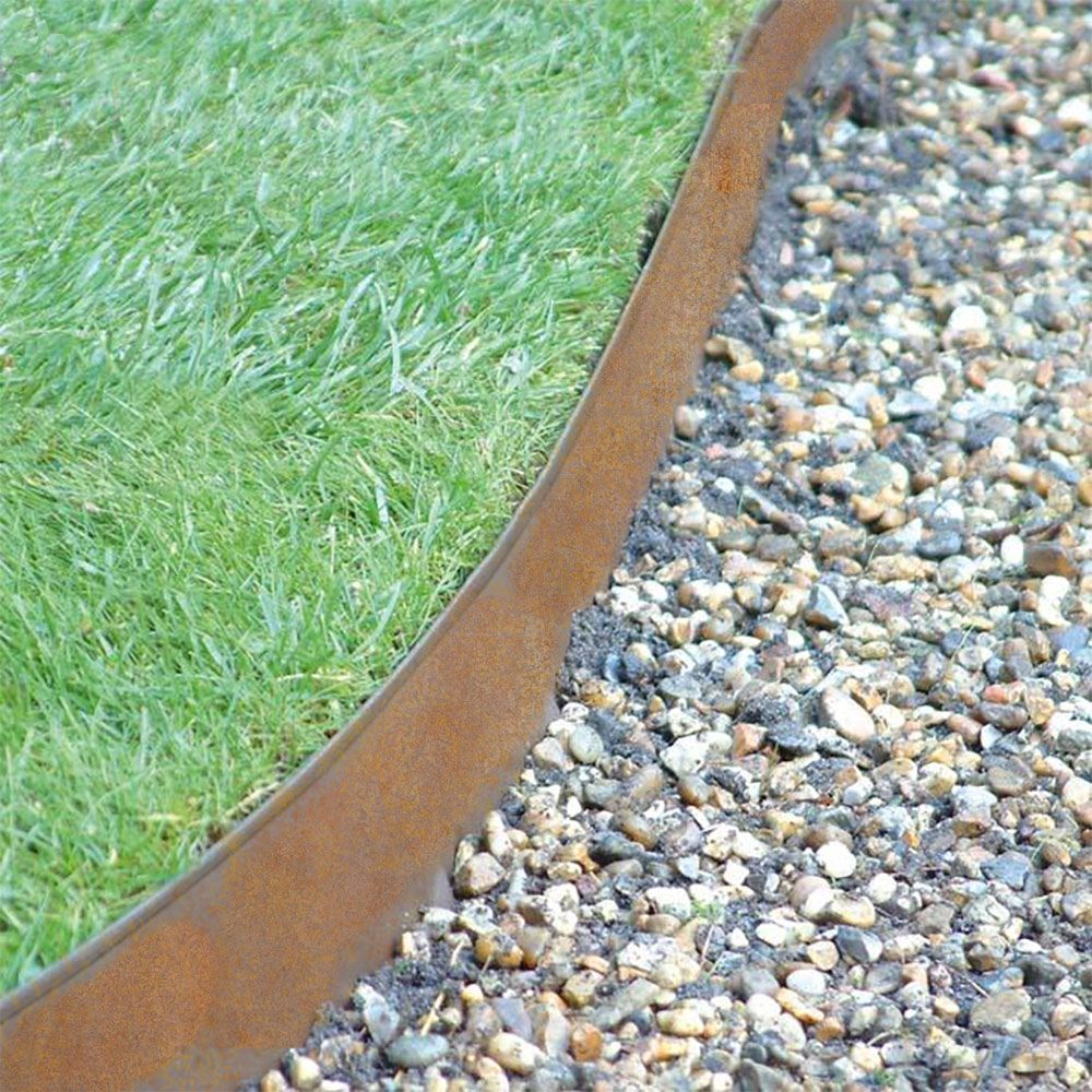 Rawedge Raw Uncoated Steel Edging Colors Naturally Over Time Creating A More Natural Look Metal Landscape Edging Lawn Edging Metal Garden Edging