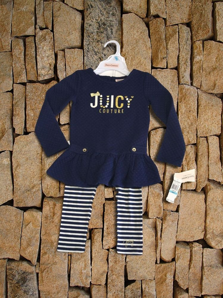 Details About Juicy Couture Toddler Girls 2 Piece Set Size Us 5 New Juicy Couture Girl Outfits Toddler Girl