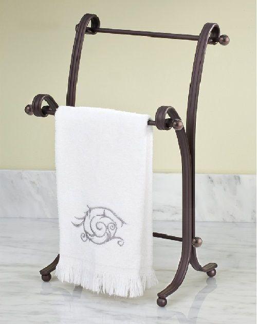Free Standing Towel Rack For Bathroom Hand Bath Bronze Kitchen Hanger New Interdesign