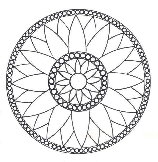 Mandalas rosace mod le n 1 dessin pinterest rosace mandalas et mod le - Coloriage de rosace ...