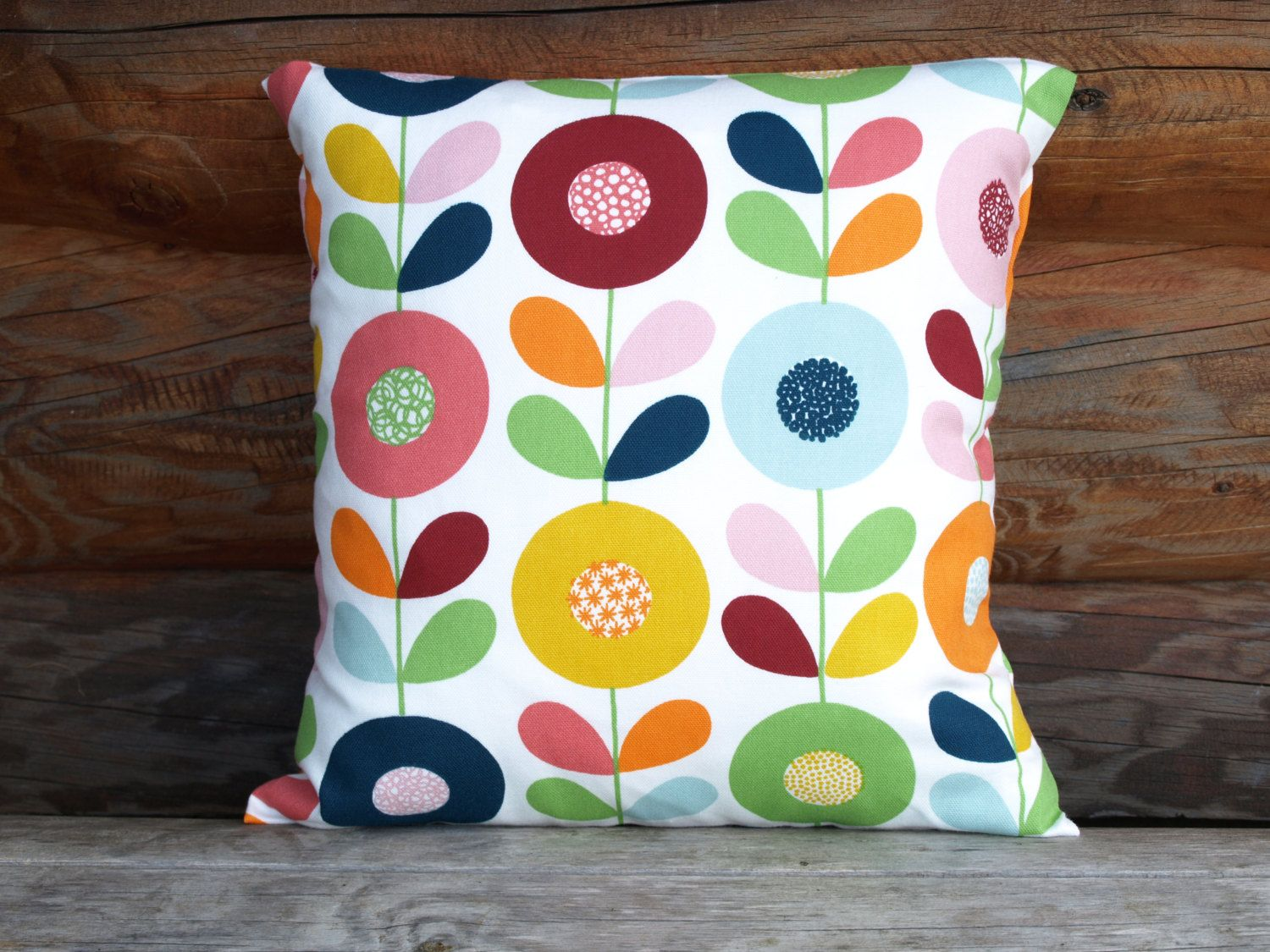 Decorative Pillow Cover White Bright Flowers Floral Decorative Etsy In 2021 Floral Pillows Decorative Pillow Covers Decorative Pillows