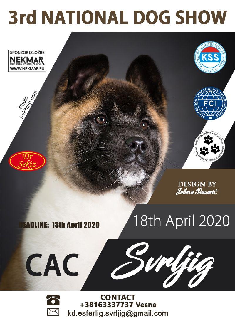 3rd National Dog Show CAC Svrljig (Serbia)April 18th 2020