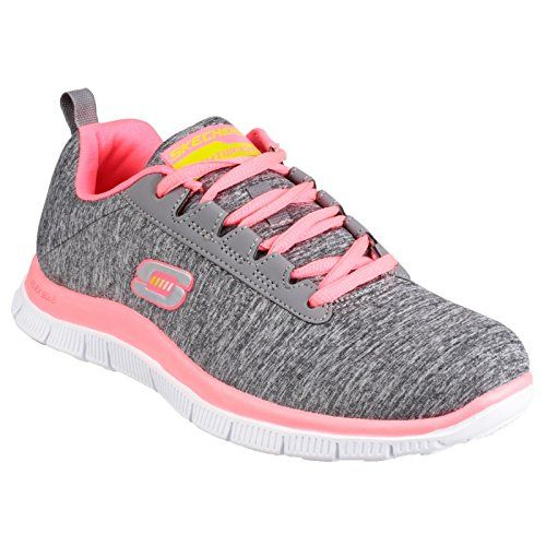 Skechers Flex Appeal Next Generation Womens Trainers US 9 GreyCoral See this great