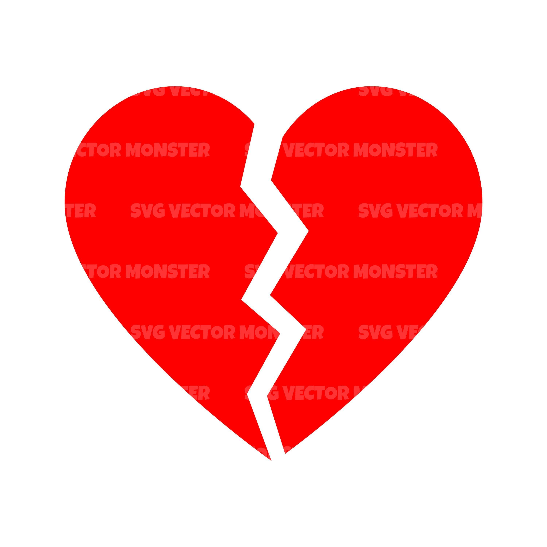 Broken Heart Silhouette Png